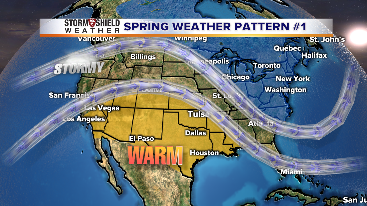Spring Weather Forecast The Day Outlook For March April May - Us weather map past week