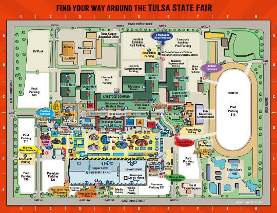 Tulsa State Fair 2016 Fairgrounds Map Hours Parking