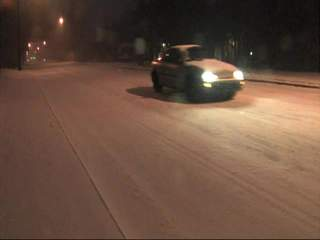 Snow on Peoria in Tulsa