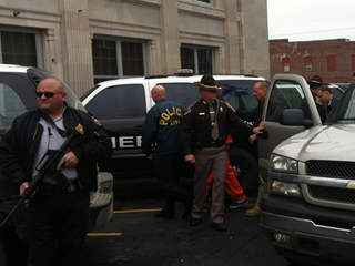 Kevin Sweat entering Okfuskee County courthouse
