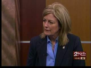 State Sen. Kim David talk about legislative session