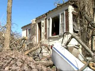 Tornado damage in Branson, Missouri