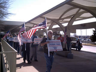 American Airlines workers protest at TIA