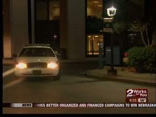 Police chase ends outside hospital