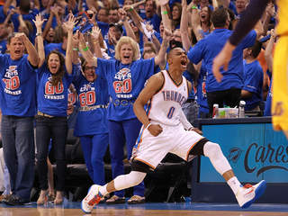 Oklahoma City Thunder Russell Westbrook - NBA Playoffs 2012