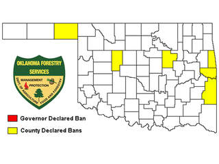 Oklahoma Burn Ban map 7-5-2012