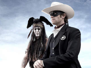 Johnny Depp Tonto Armie Hammer the Lone Ranger