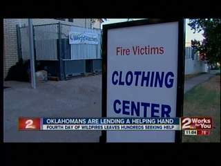 Oklahomans lend helping hand to fire victims