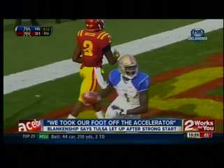 Tulsa loses early lead, falls to Iowa State, 38-23