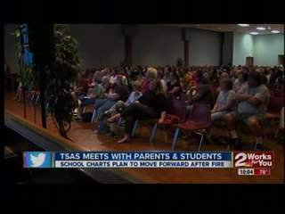 TSAS updates parents about fire recovery