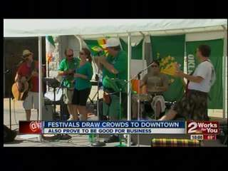 Festivals draw crowds to downtown