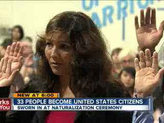 33 people swear in as United States citizens