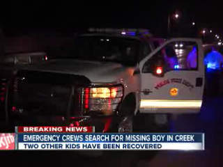 Crews search for missing teen