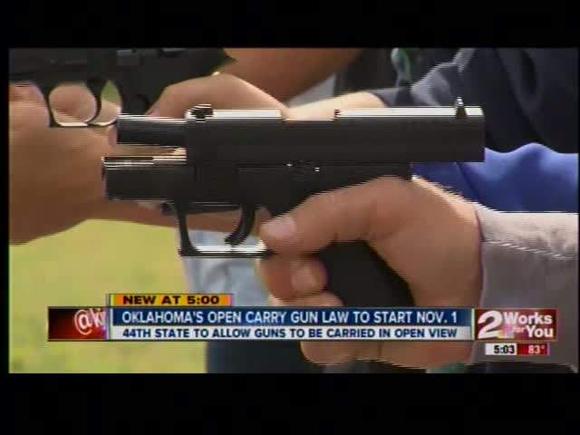 Oklahoma's Open Carry Law Takes Effect November 1