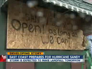Millions prepare for Sandy