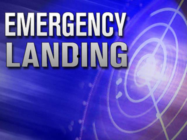 Plane makes an emergency landing near Morris