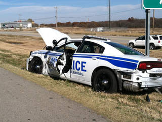 Glenpool police officer crash