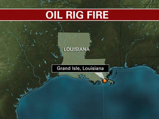 Gulf of Mexico oil rig fire