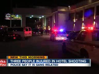 Three people shot outside of Tulsa hotel
