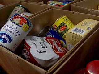 Food drive, donations, donate, nonperishable items, box of food, canned goods