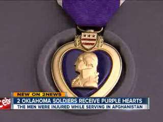 Two Oklahoma soldiers receive purple hearts