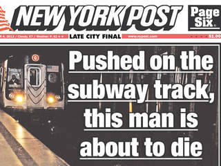 New York Post subway death photo
