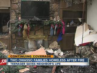 Two Owasso families lose their homes in Christmas Eve fire