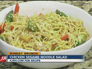 Sunday Brunch:  Eric Himan's chicken sesame noodle salad part II
