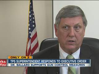 TPS superintendent supports WH gun plan