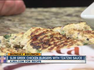 Sunday Brunch:  Julie Wheeler's slim Greek chicken burgers Part II