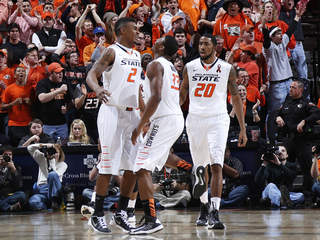 Le'Bryan Nash and Marcus Smart of the Oklahoma State Cowboys