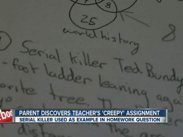 teacher fired creepy assignment