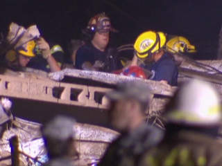 Firefighters doing search and rescue after Moore tornado
