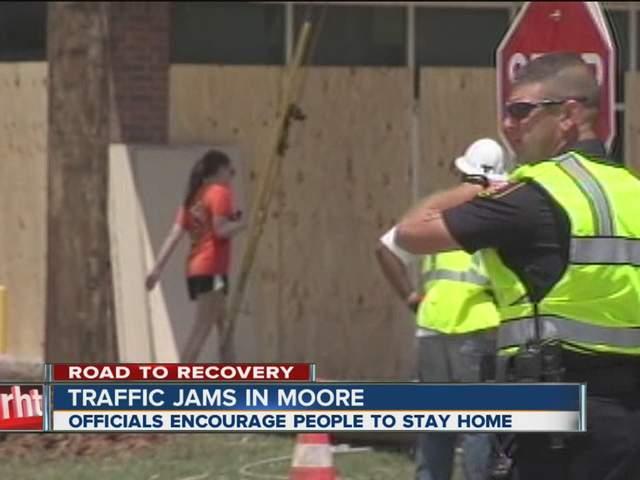 Traffic jams in Moore