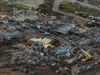 Plaza Towers Elementary School in Moore, Oklahoma after tornado