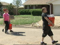 Helping His Hnads Disaster Response team in Moore volunteering with tornado cleanup