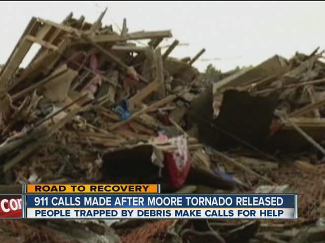 911 calls from the Moore tornado have been released