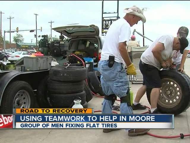 Team fixes flats in Moore