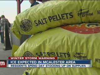 McAlester prepares for ice storm
