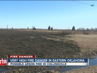 Collinsville grass fire may have been arson