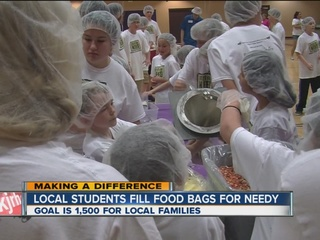Local students pitch in to feed the hungry