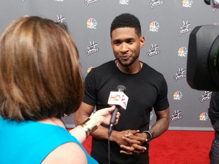 On The Voice red carpet with Usher