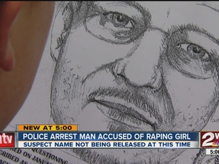 Suspect in 12-year-old's rape arrested