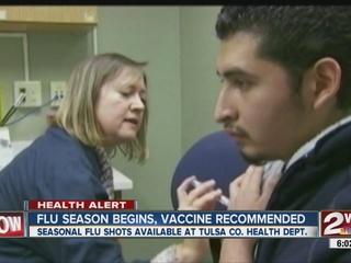 Vaccines available as flu season begins