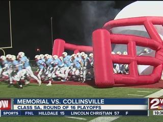 Collinsville beats Memorial 27-6