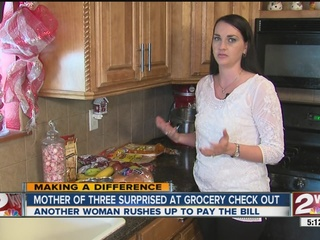 Stranger pays for woman's entire groceries
