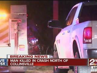 Crash kills man north of Collinsville