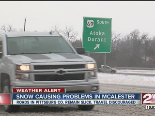 Hazardous road conditions in Pittsburg Co.