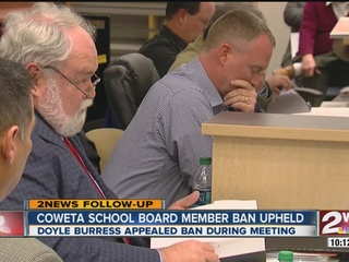 Ban upheld for new school board member