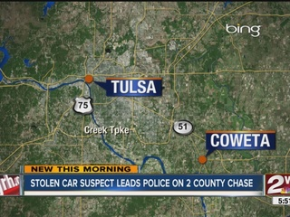 Driver crashes stolen truck during police chase